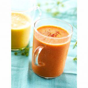Zuppa fredda ai peperoni rossi e gialli