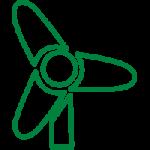 Nel nostro sito è stata installata una pala eolica per ridurre l'impronta ecologica
